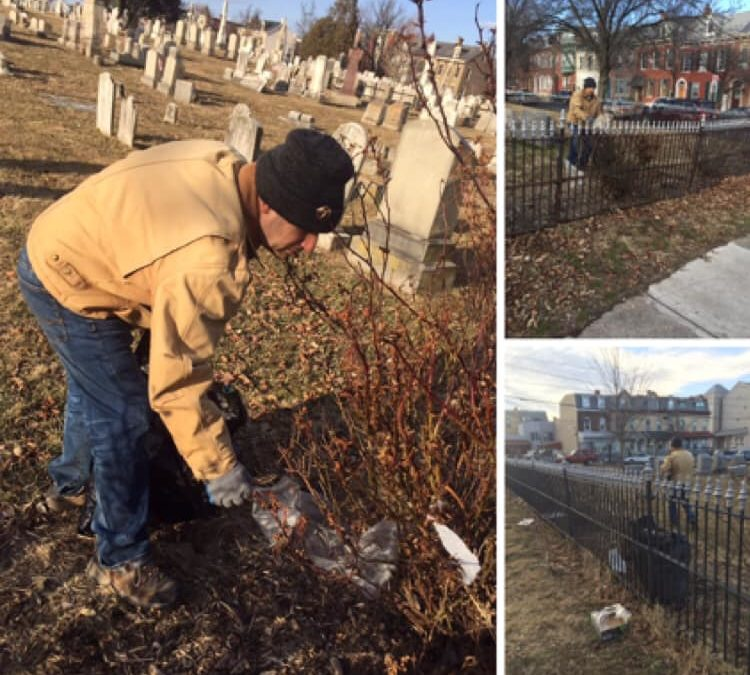 Post windstorm cleanup at Union & West End Cemetery