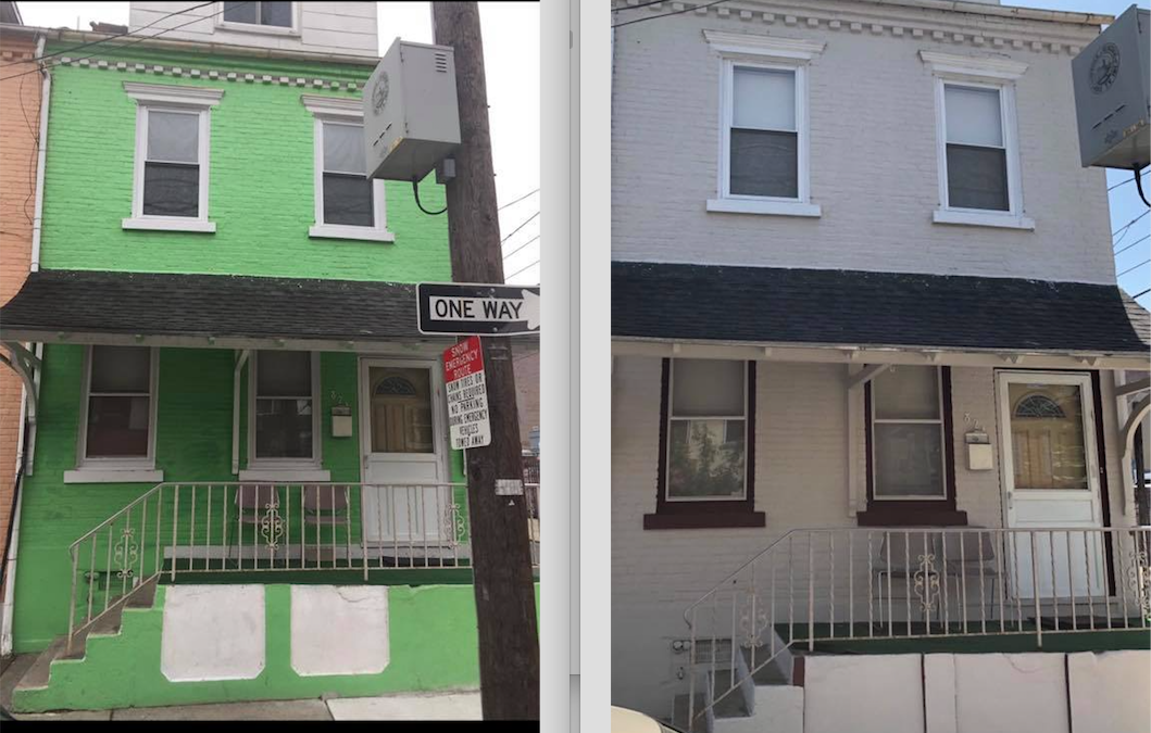 A Peak At Some Progress in Old Allentown. Before and After: Paint & Primer grant awardees.